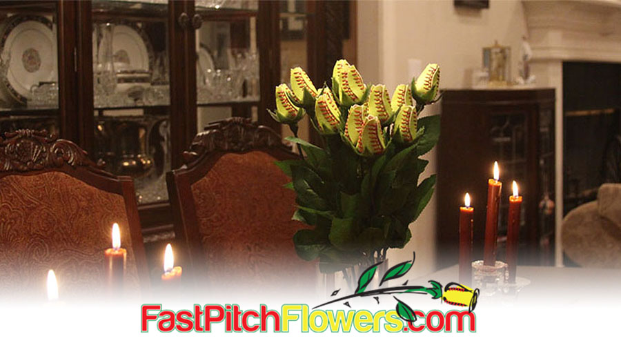 Fastpitch Softball Flowers and Roses