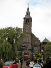 Photo: You know it's a Catholic village because the steeple has a cross. Protestant churches are topped with roosters.