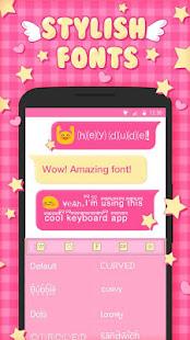ピンクのかわいいキーボードのテーマ