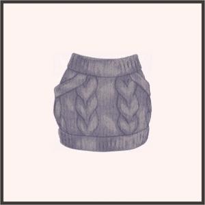 グレーのニットスカート