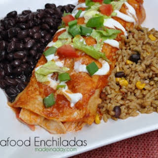 Seafood Enchiladas with Imitation Crab.