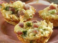 Ham And Noodle Tarts Recipe