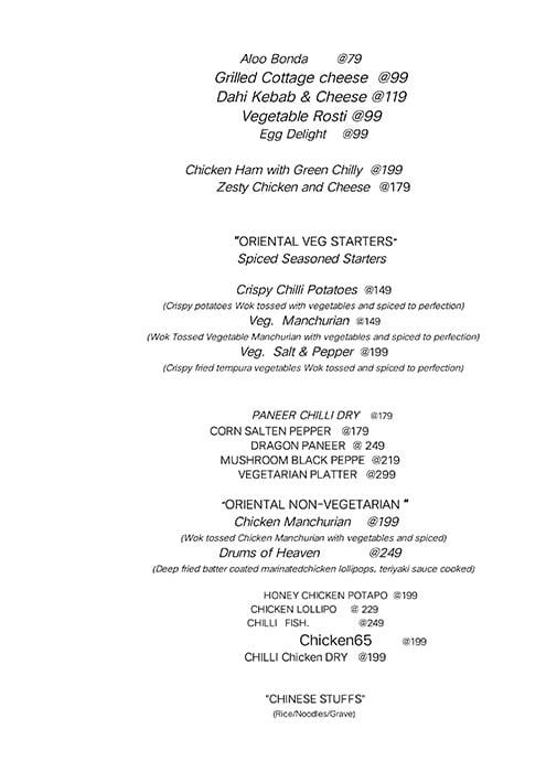 Rainbow Food Factory menu 5