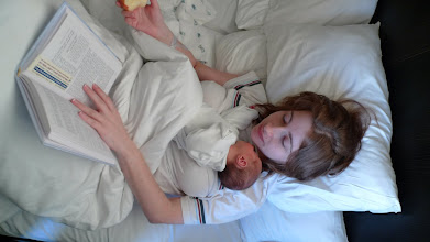 """Photo: Three days old. This photo was taken in """"Hadassah Baby"""", a sort of hotel inside the hospital where the mother can get some well-deserved rest and the father can sleep horizontally instead of vertically."""