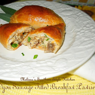 Dijon Sausage Filled Breakfast Pastries