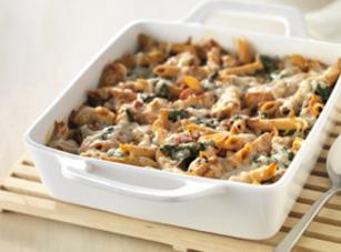 Kraft's Three-cheese Chicken Penne Pasta Bake Recipe
