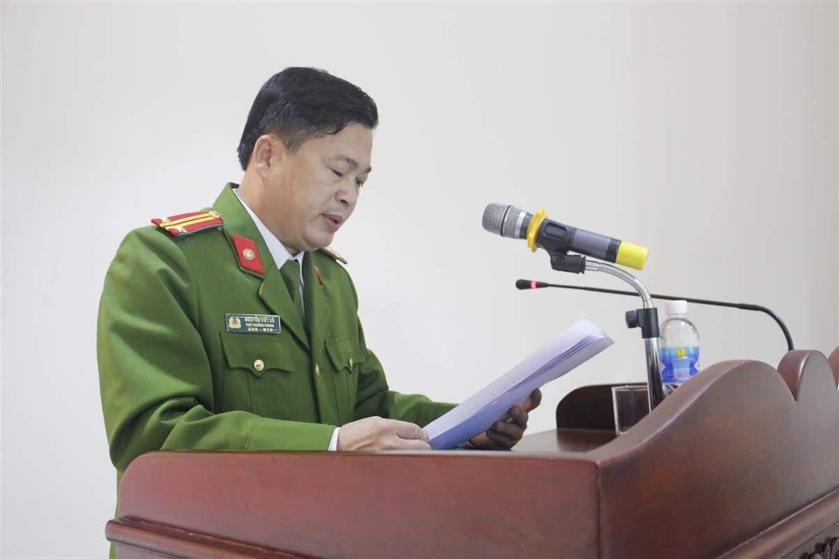 Trung tá Nguyễn Viết Xô, Phó trưởng phòng báo cáo kết quả CCHC năm 2019