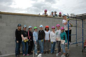 Photo: Our first team of ladies to kick off the Girl PowerHouse build! Thank you volunteers - you rock!