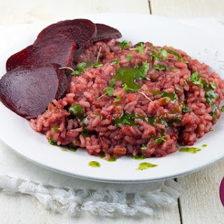 Beetroot Risotto with Streaky Bacon Recipe