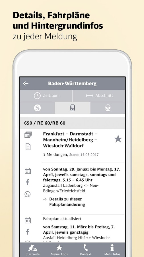 DB Bauarbeiten- screenshot