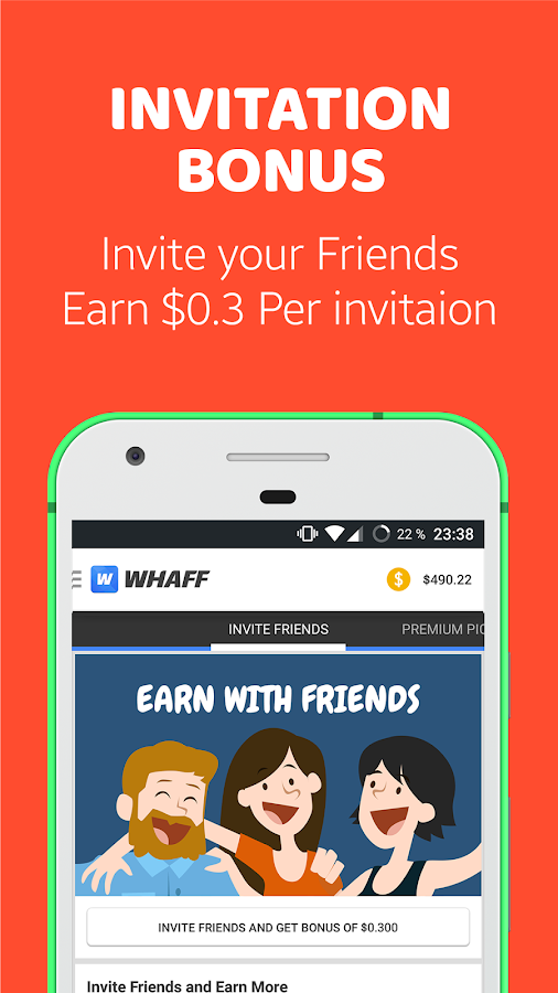 WHAFF Rewards: captura de pantalla