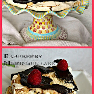 Easy Raspberry Meringue Cake with Chocolate Ganache