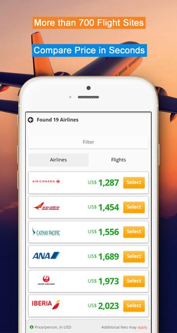 Compare Flights and Hotels- screenshot