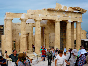 Photo: Our first event in Athens was to tour the Acropolis and the Parthenon.