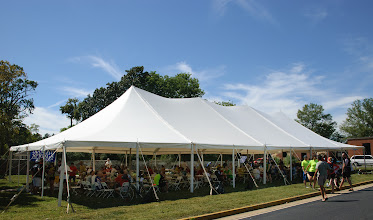 Photo: The lunch tent was a welcome sight