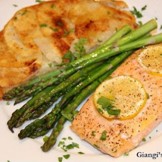 Oven Salmon with Potatoes Anna