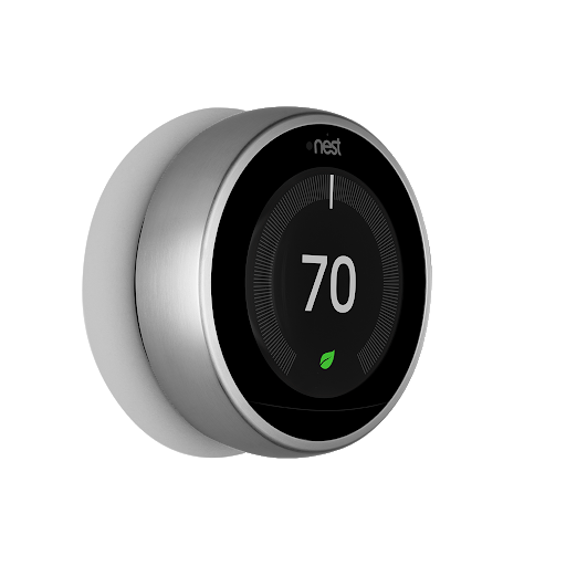 Side angle view of Nest Learning Thermostat, 3rd Generation