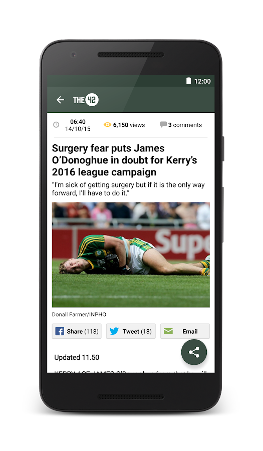 The42.ie Sports News- screenshot