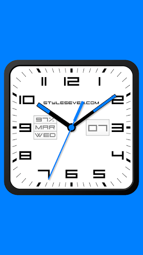 Square Analog Clock-7 2.2 screenshots 1