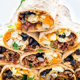 Tex Mex Breakfast Wraps (Freezer Friendly) Recipe