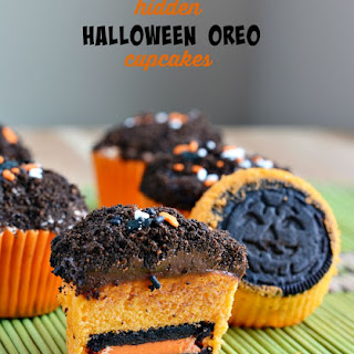 Hidden Halloween OREO Cupcakes