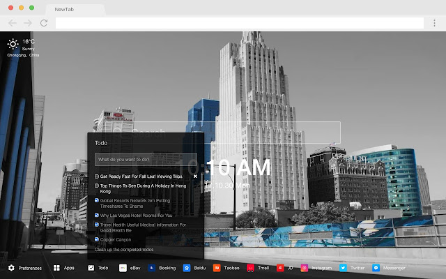 Kansas City Popular Cities HD New Tabs Themes