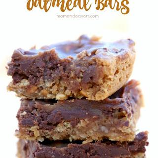 Chocolate Peanut Butter Oatmeal Bars.