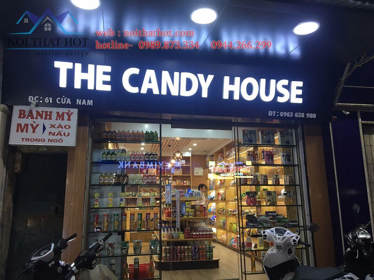 thi công cửa hàng bánh kẹo nhập khẩu 1