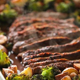Sheet Pan Flank Steak and Vegetables.