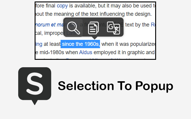 Selection To PopUp