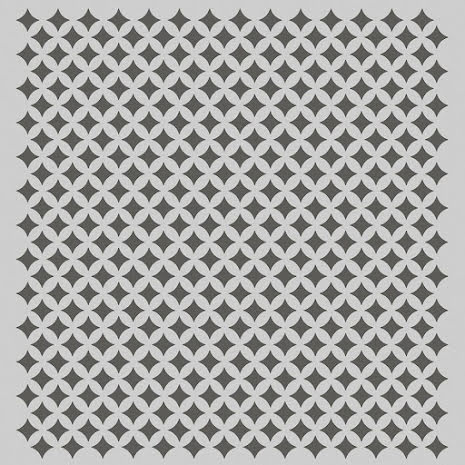 Simple Stories Family Fun Stencil 6X6 - Retro Diamonds