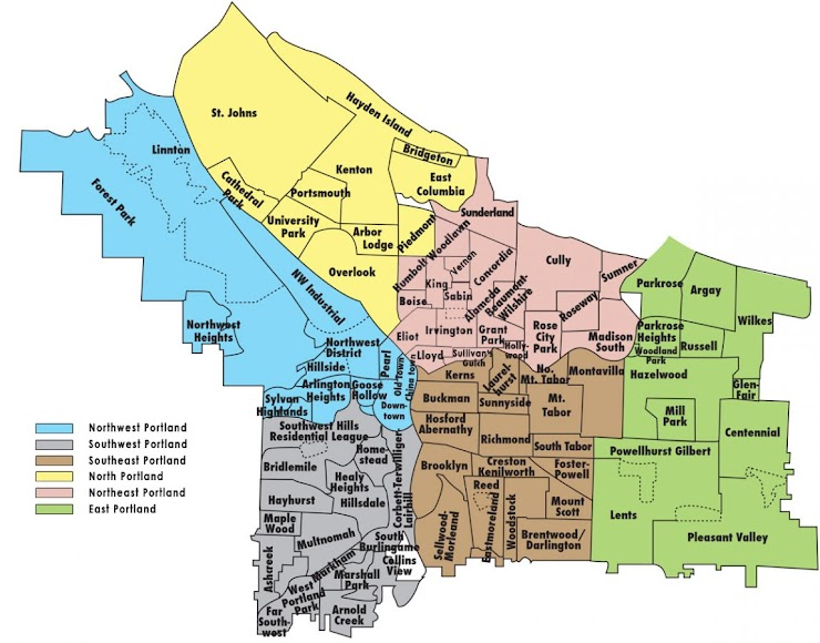 [Image is map of Portland neighborhoods]