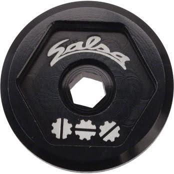 Salsa Split Pivot Dropout Tool Top Cap Black with Black Bolt