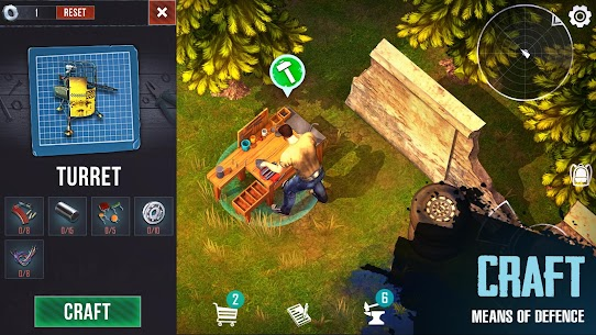 Last Survivor Diaries – Zombie Survival Apk Mod (God Mod+Hit Kill+Free Craft) 2