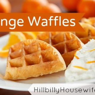 Orange Waffle