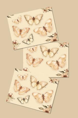 Mrs Mighetto Paper Friends Butterflies