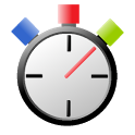 stopwatch with lap times icon