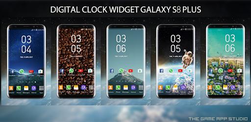 Galaxy S8 Plus Digital Clock Widget - Apps on Google Play