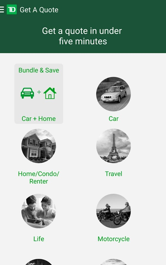 Td Bank Life Insurance Quote Cool Td Insurance  Android Apps On Google Play