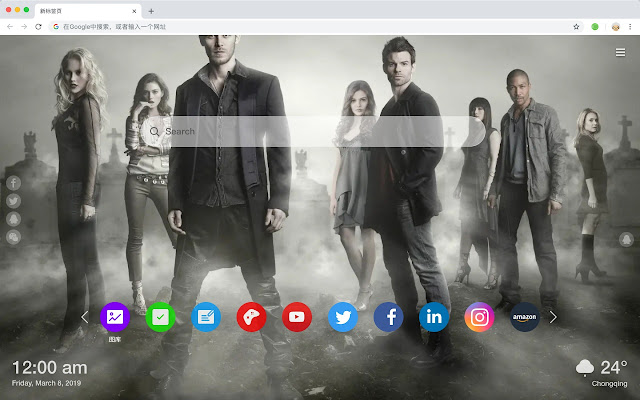 The Vampire Diaries TV  New Tabs HD Themes