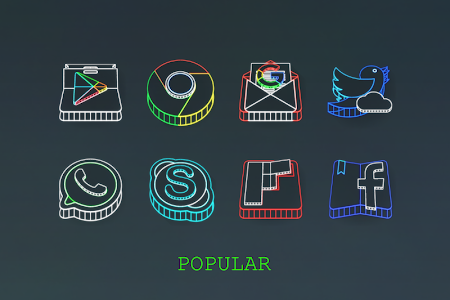 Wireframe 3D Icon Pack v2.0.0