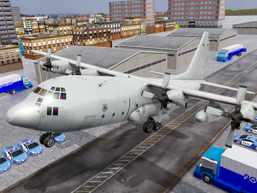 US Police Transporter Plane Simulator screenshot 13