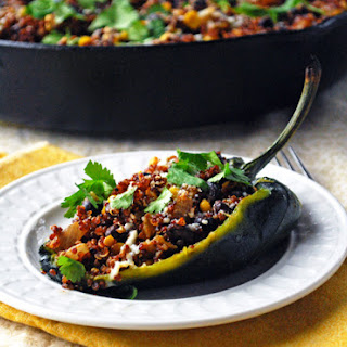 Quinoa Stuffed Poblano Peppers.