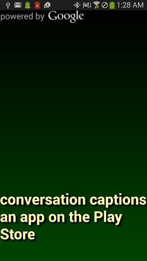 Conversation Captions