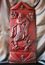 Photo: Tamaño: 99 x 41 cm. || Talla en madera. Woodcarving.   Puedes conocer más de este artista en el blog: http://tallaenmadera-woodcarving-esculturas.blogspot.com/