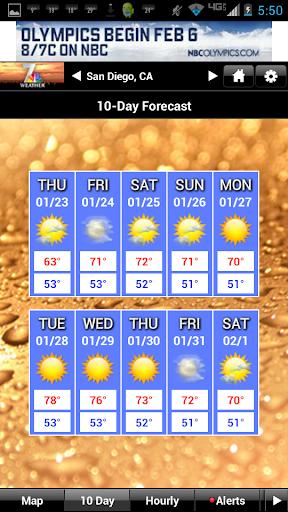 NBC 7 San Diego Weather screenshot 2