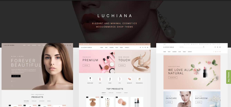 Luchiana - Cosmetic Woocommerce theme