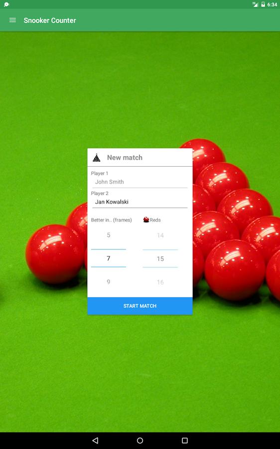 snooker scoring app