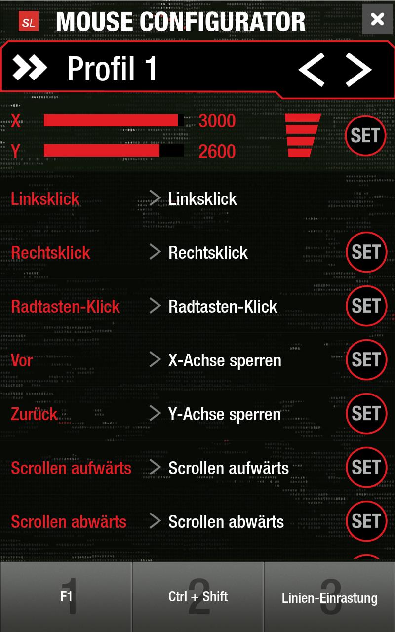 Скриншот Mouse Configurator