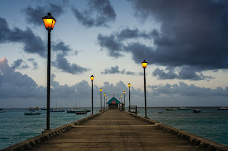Photo: Guiding Light  Here is an image from my last morning in Barbados at the Oistins Pier.  #seascape  #Barbados  #sunrise